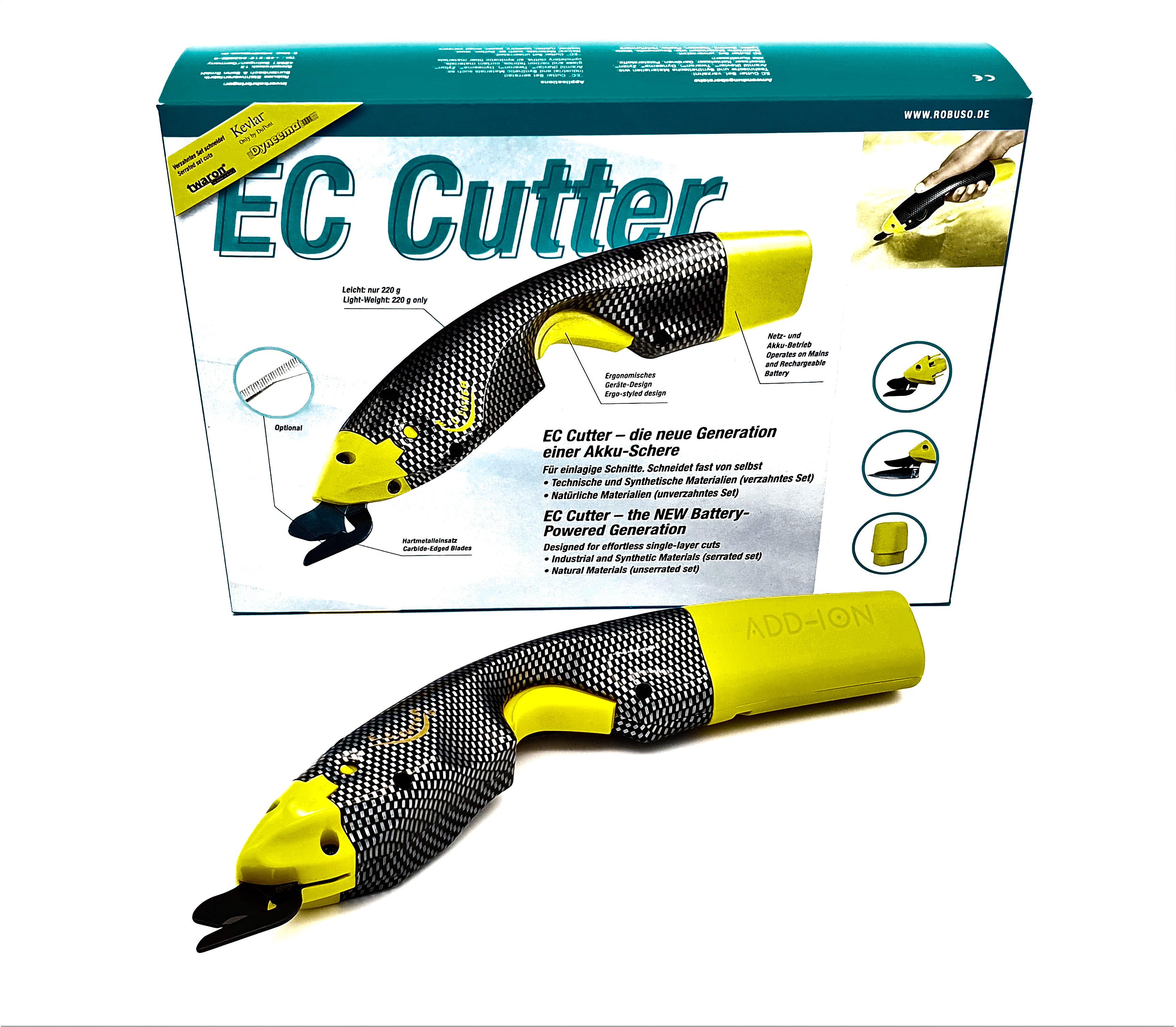 EC-Cutter Li-Ion Set, verzahnt, für technische Textilien