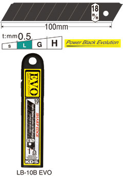 10 Ersatzklingen PowerBlack, 18mm