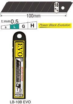 100 Ersatzklingen PowerBlack, 18mm