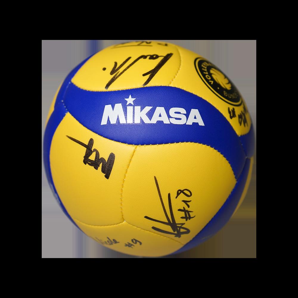 Mikasa Mini-Volleyball mit Unterschriften aus der Saison 2020/21
