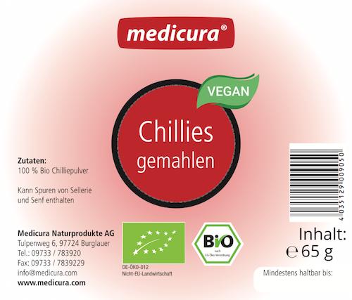 Bio Chillies gemahlen