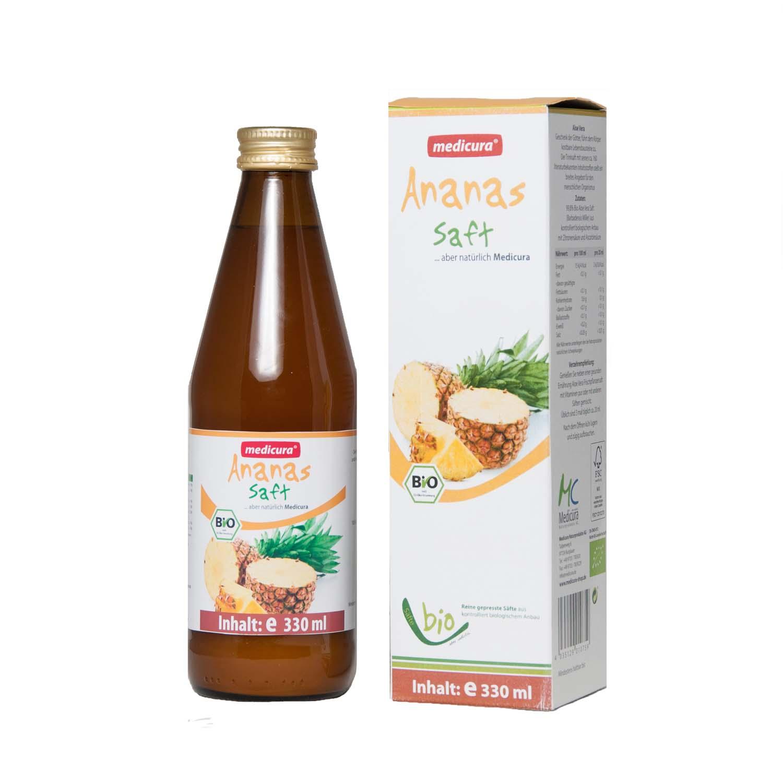 Bio Ananas 100 % Fruchtsaft - 330 ml Glasflasche