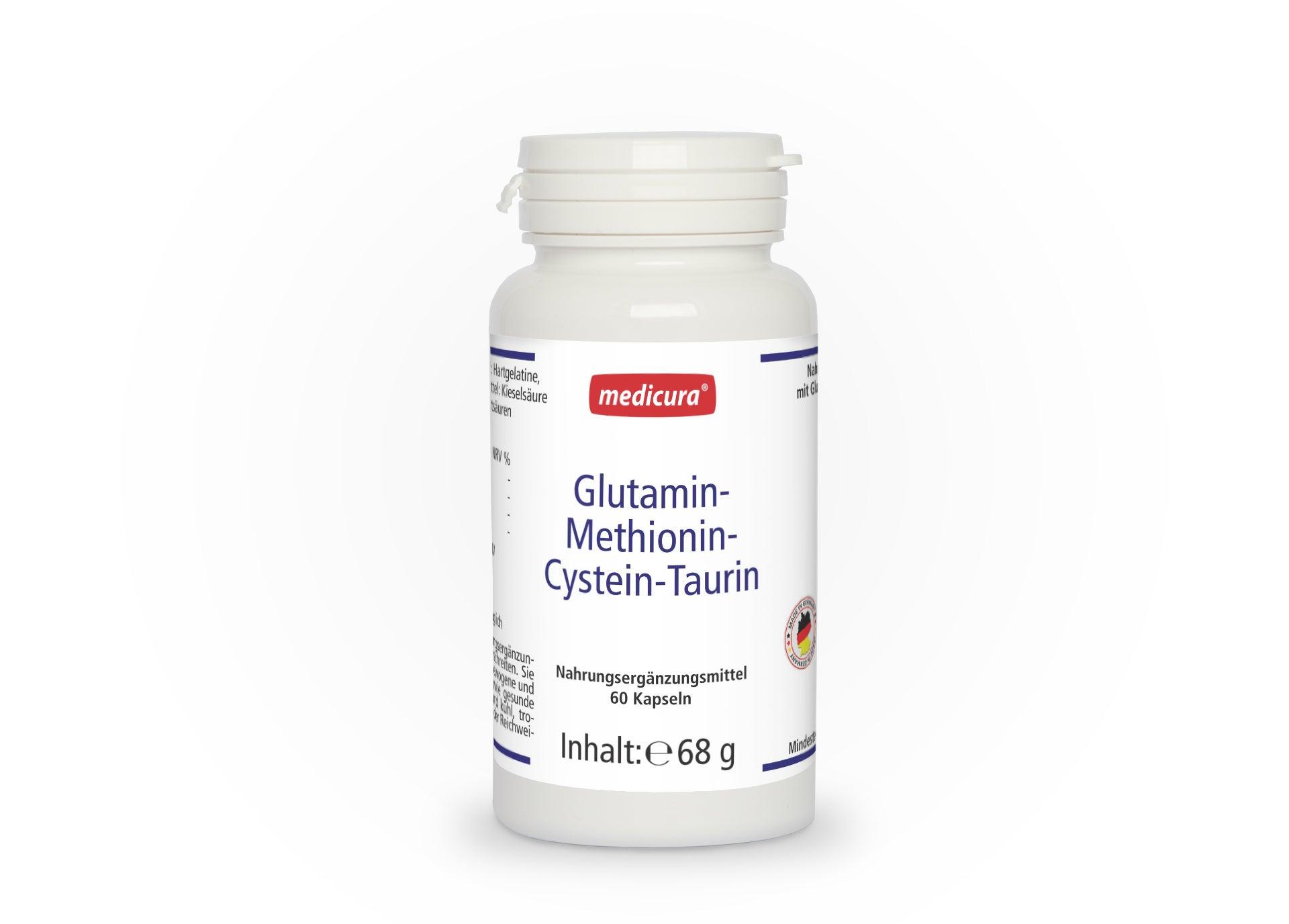 Glutamin - Methionin - Cystein - Taurin - 60 Kapseln