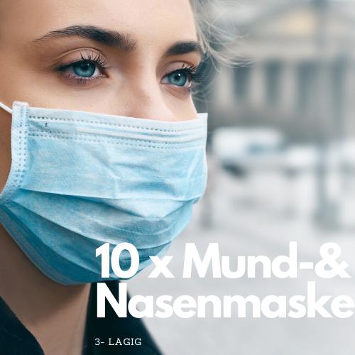 10 Stück Mund- & Nasenmaske