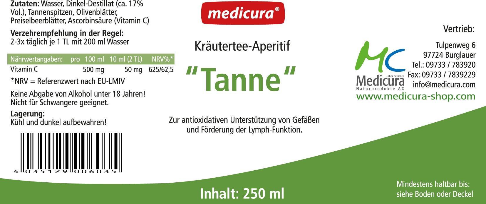 """Kräutertee-Aperitif """"Tanne"""" - 250 ml Glasflasche"""