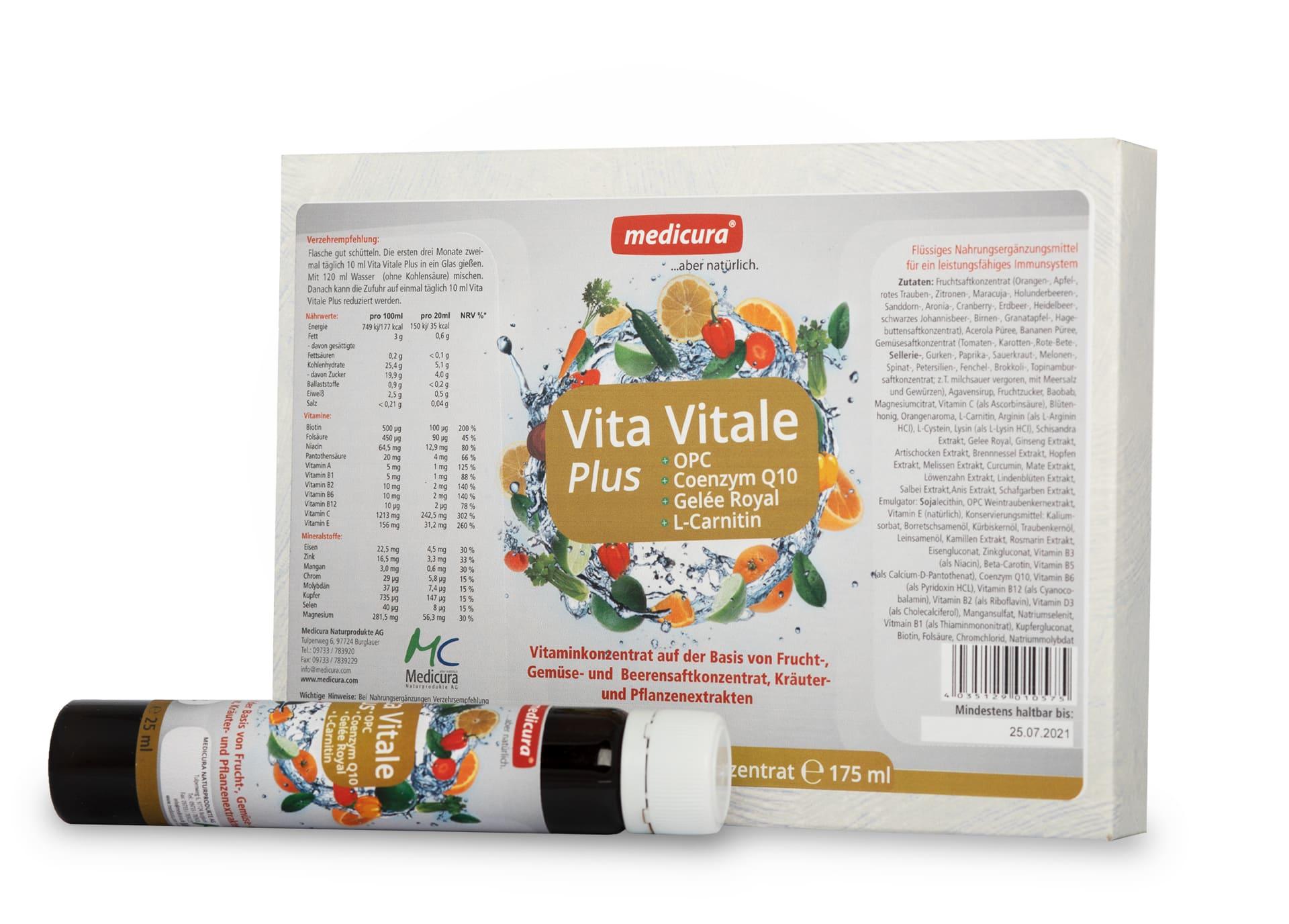 Vita Vitale Plus + OPC +Coenzym Q10 + Gelée Royal + L-Carnitin (Vitaminkonzentrat 1:12)