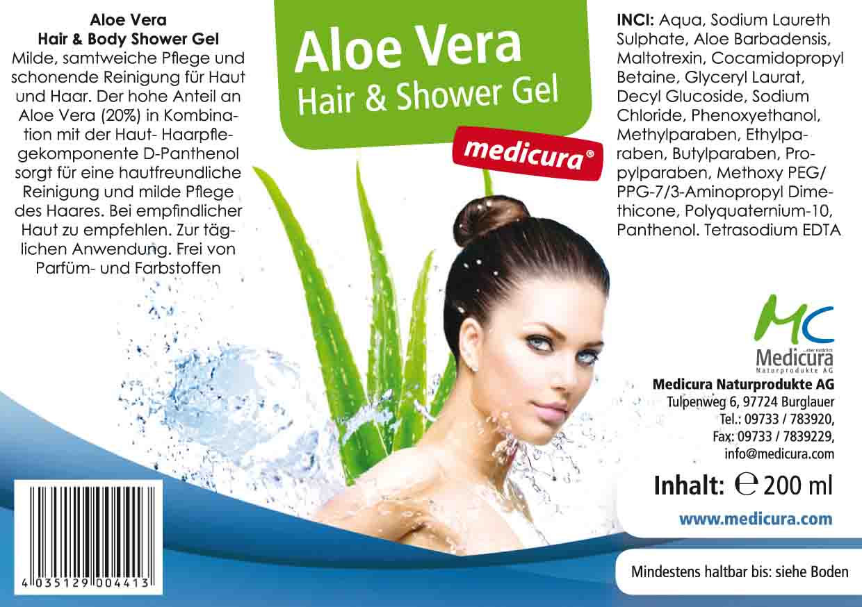 Aloe Vera Hair & Body Shower Gel - 200 ml