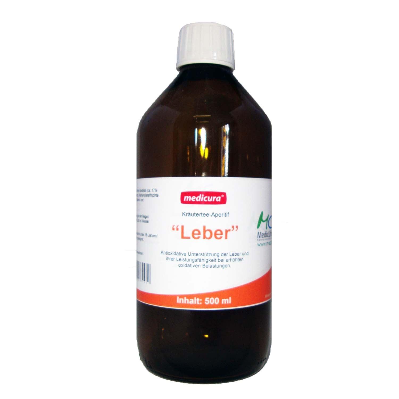 """Kräutertee-Aperitif """"Leber"""" - 500 ml Glasflasche"""