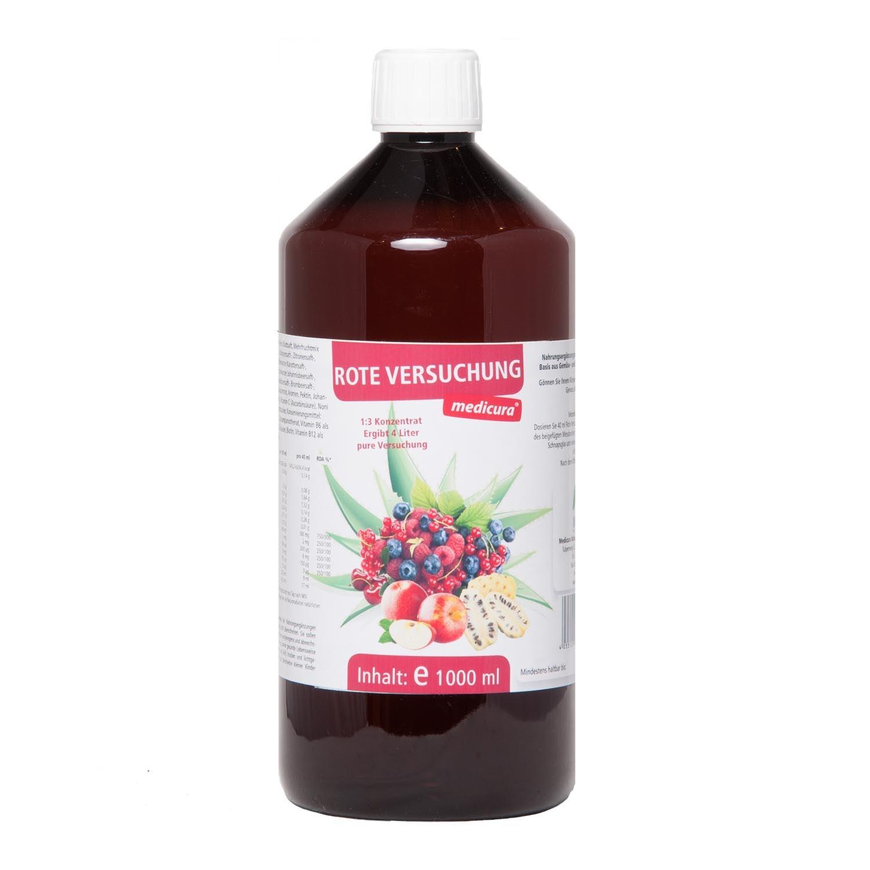 """""""Rote Versuchung"""" Wellnessgetränk - 1000 ml PET-Flasche"""