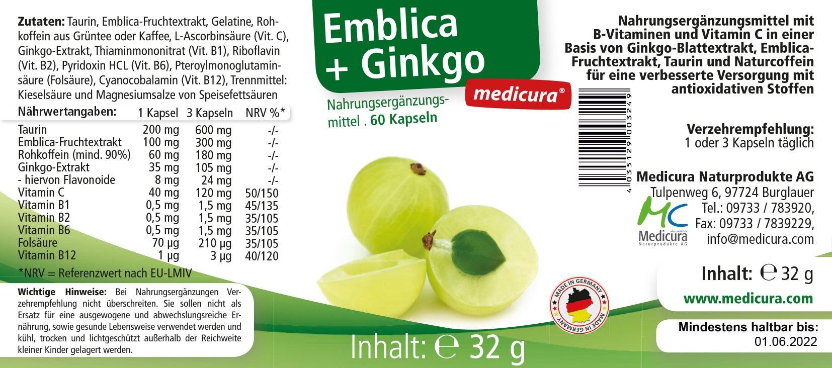 Emblica + Ginkgo