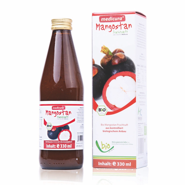 Bio Mangostan 100 % Fruchtsaft - 330 ml Glasflasche