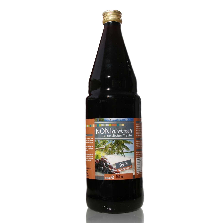 Noni Direktsaft 93 % mit Traubensaft 7 % - 750 ml Glasflasche