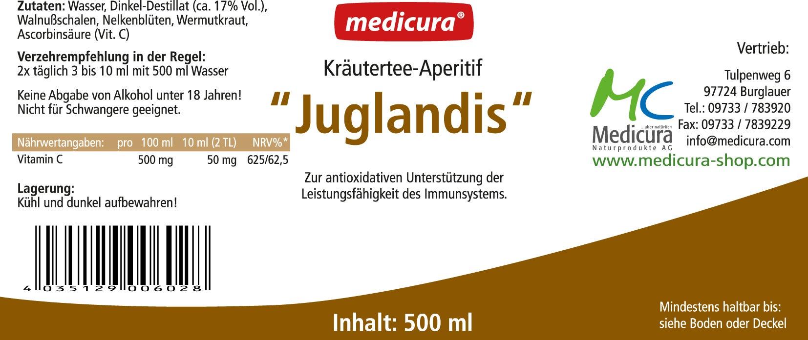 """Kräutertee-Aperitif """"Juglandis"""" - 500 ml Glasflasche"""