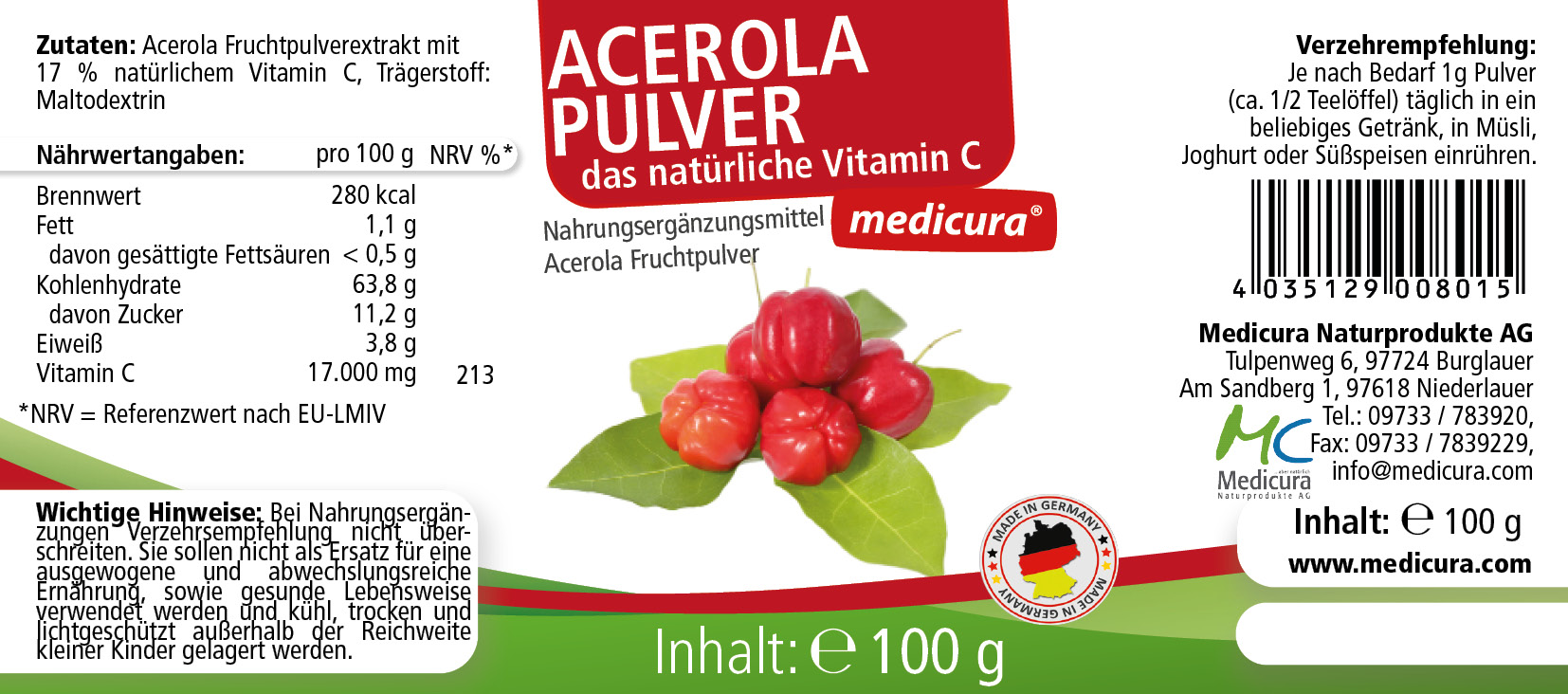 Acerola Pulver