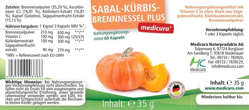 Sabal Kürbis Brennnessel Plus - 60 Kapseln