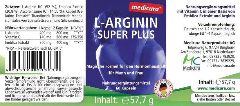 L-Arginin Super Plus - 60 Kapseln