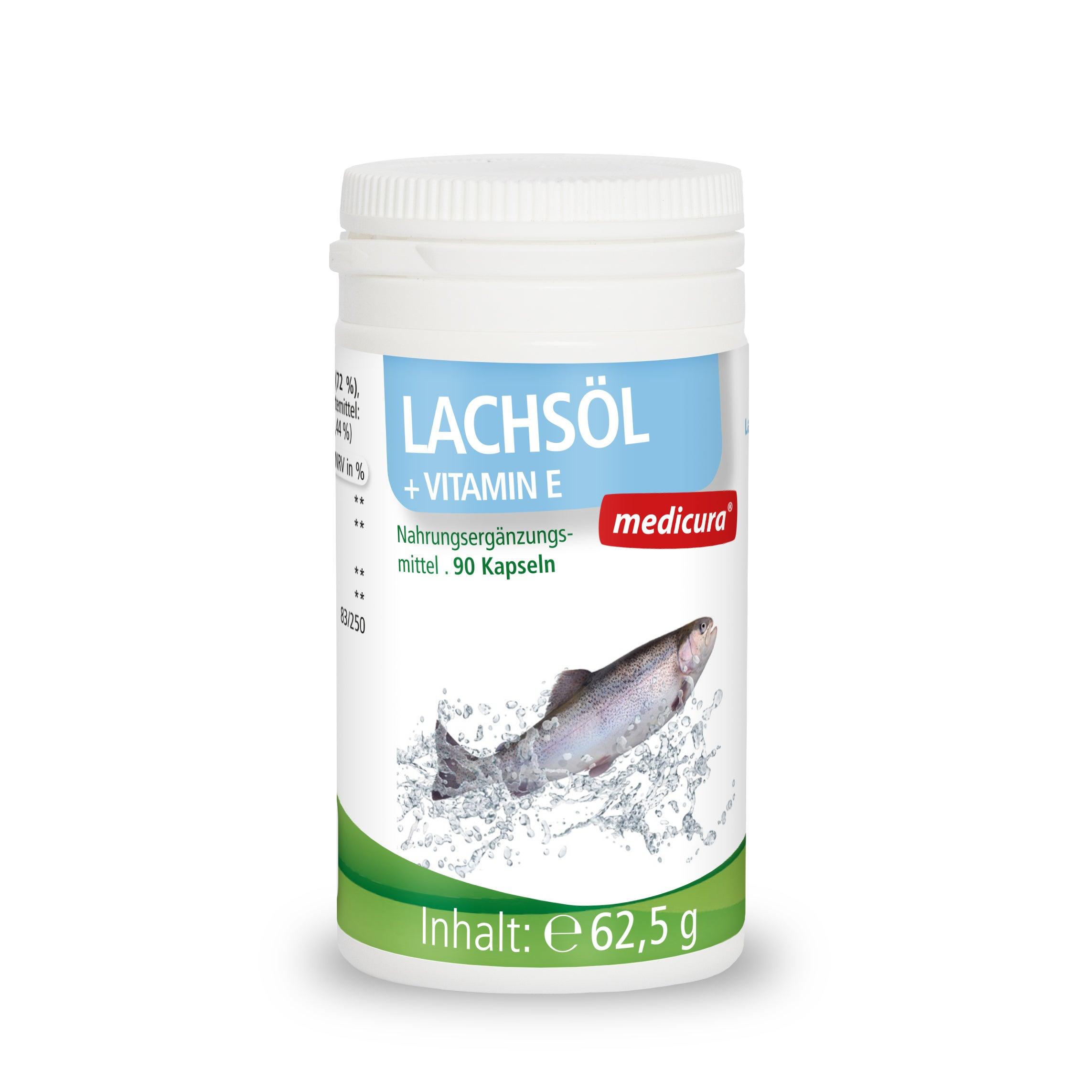 Lachsöl + Vitamin E - 90 Kapseln