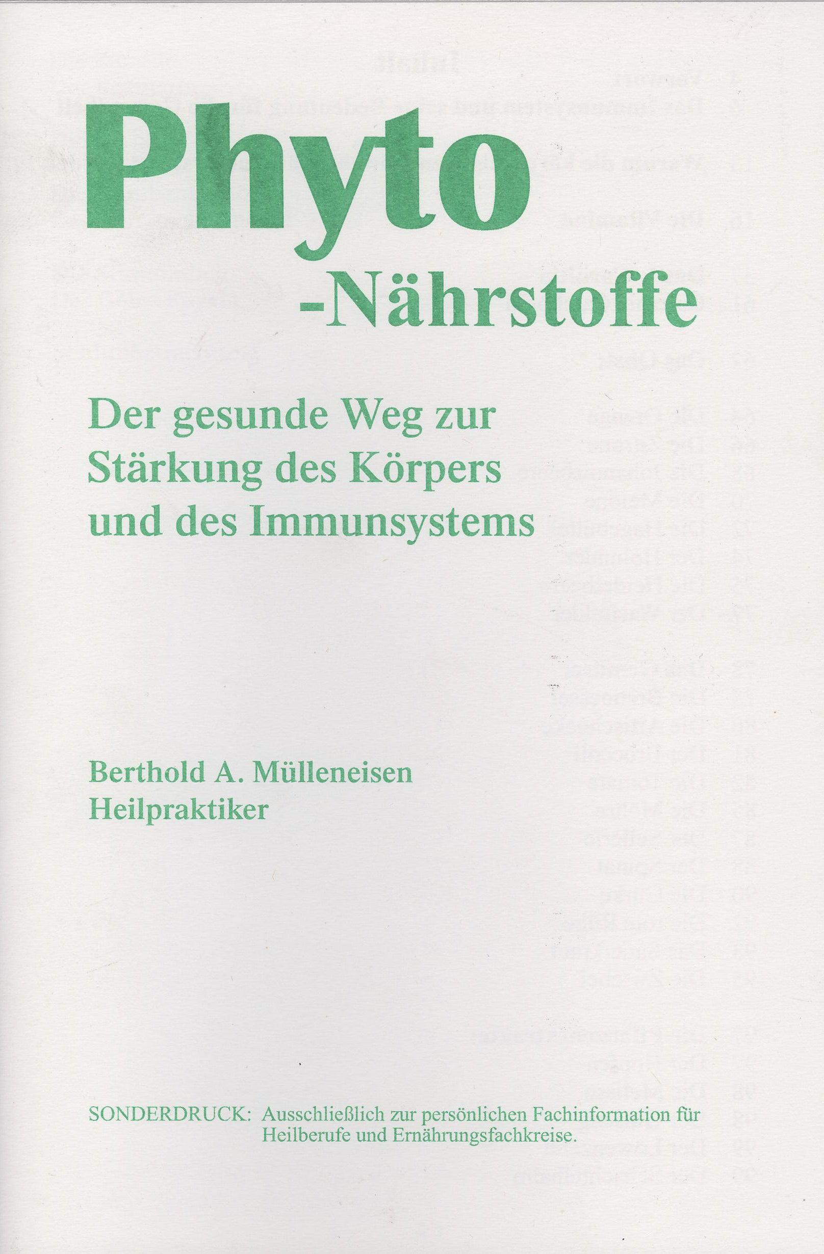 Phyto - Nährstoffe