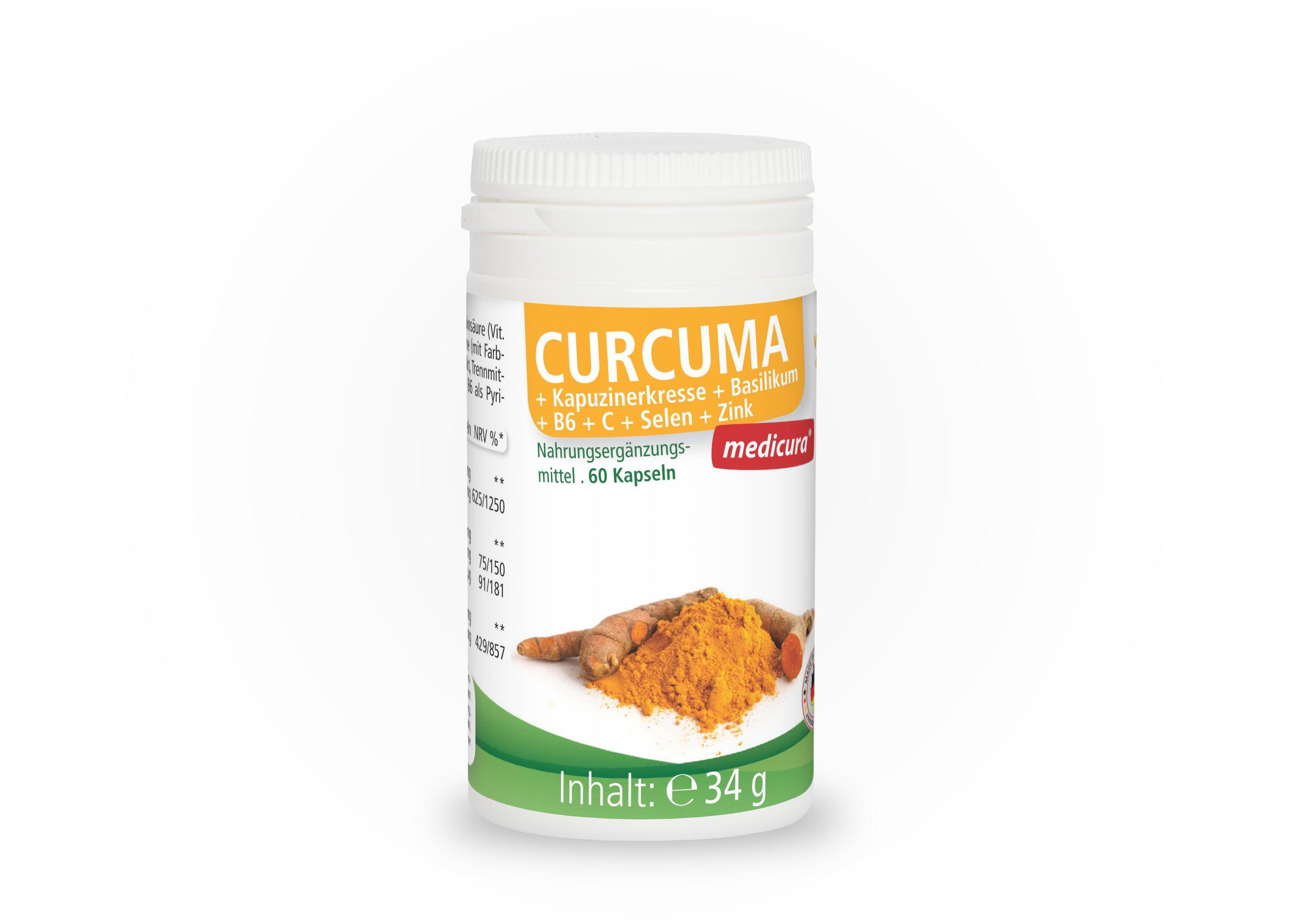 Curcuma + Kapuzinerkresse + Basilikum - 60 Kapseln