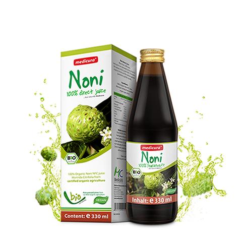 Bio Noni 100 % Direktsaft  - 330 ml Glasflasche