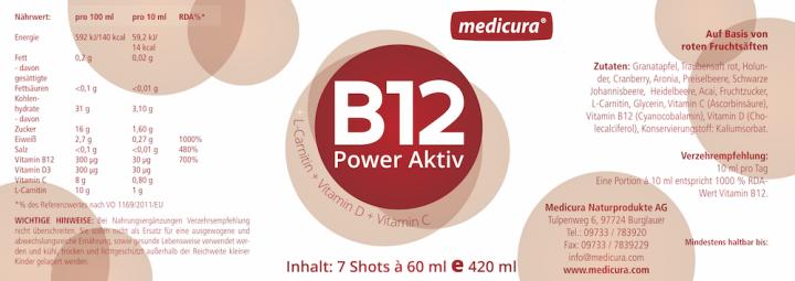 B12 Red Power Aktiv - 7 Shots à 60 ml