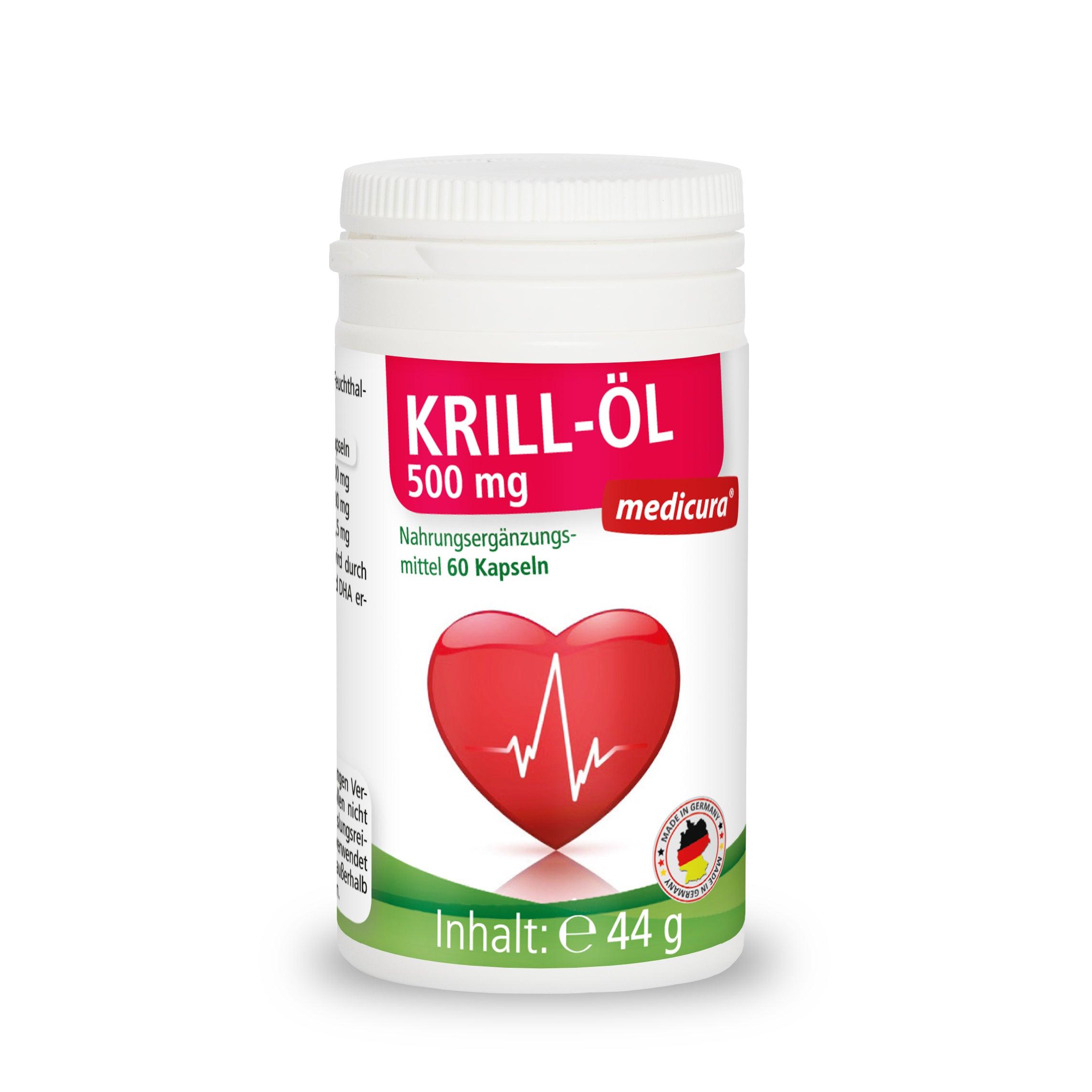 Krill-Öl 500 mg - 60 Kapseln