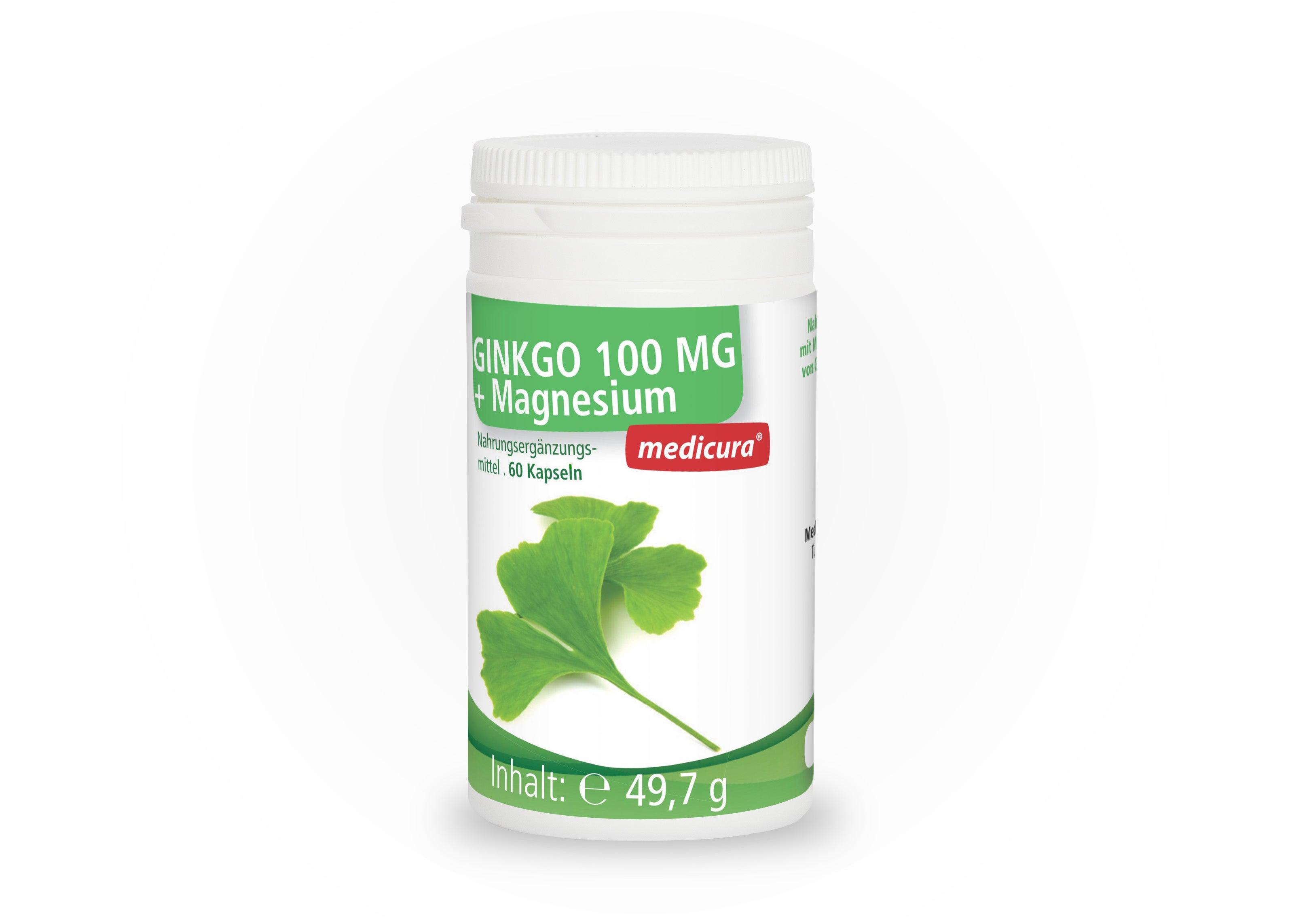 Ginkgo 100 mg + Magnesium - 60 Kapseln