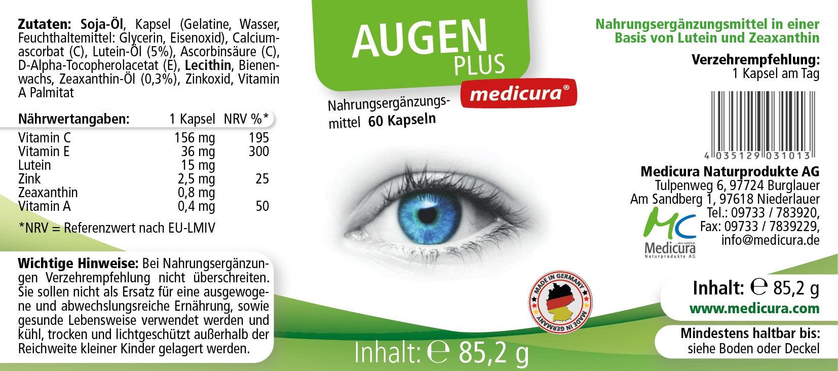 Augen Plus - 60 Kapseln