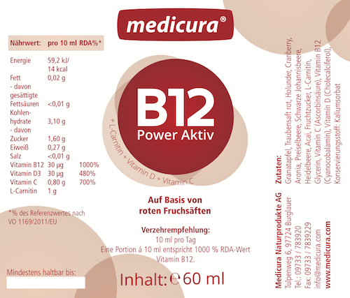B12 Red Power Aktiv - 7 Ampullen a 25 ml