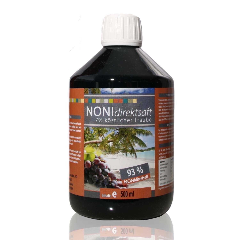 Noni Direktsaft 93 % mit Traubensaft 7 % - 500 ml PET-Flasche