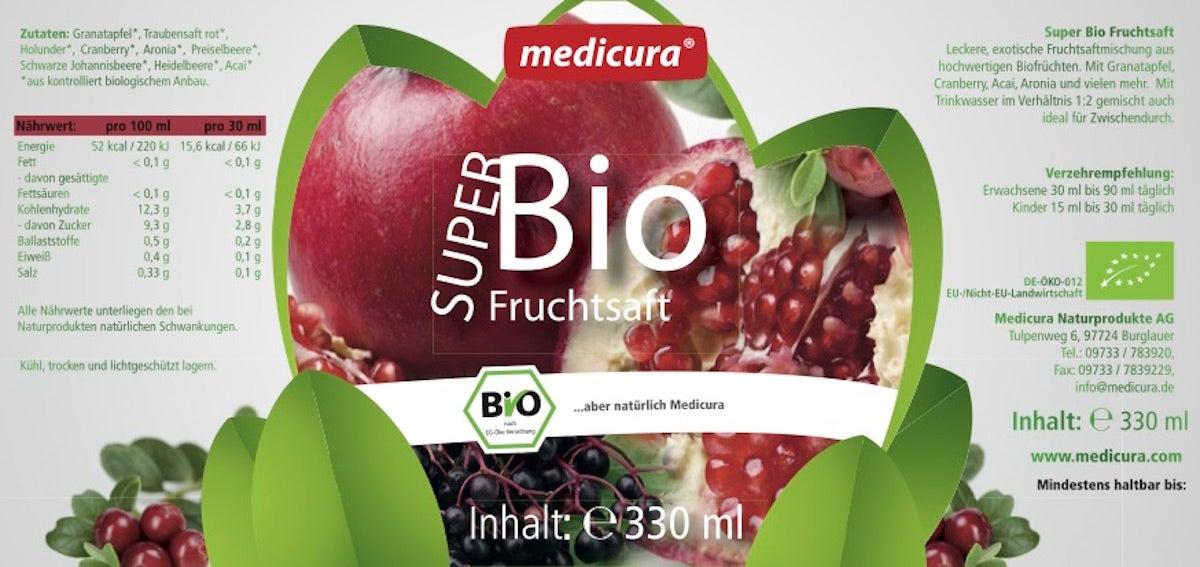 Super Bio Fruchtsaftmischung - 330 ml Glasflasche