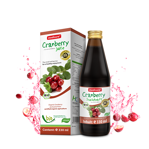 Bio Cranberry 100 % Fruchtsaft - 330 ml Glasflasche