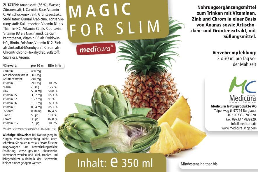 Magic for Slim - 350 ml Glasflasche