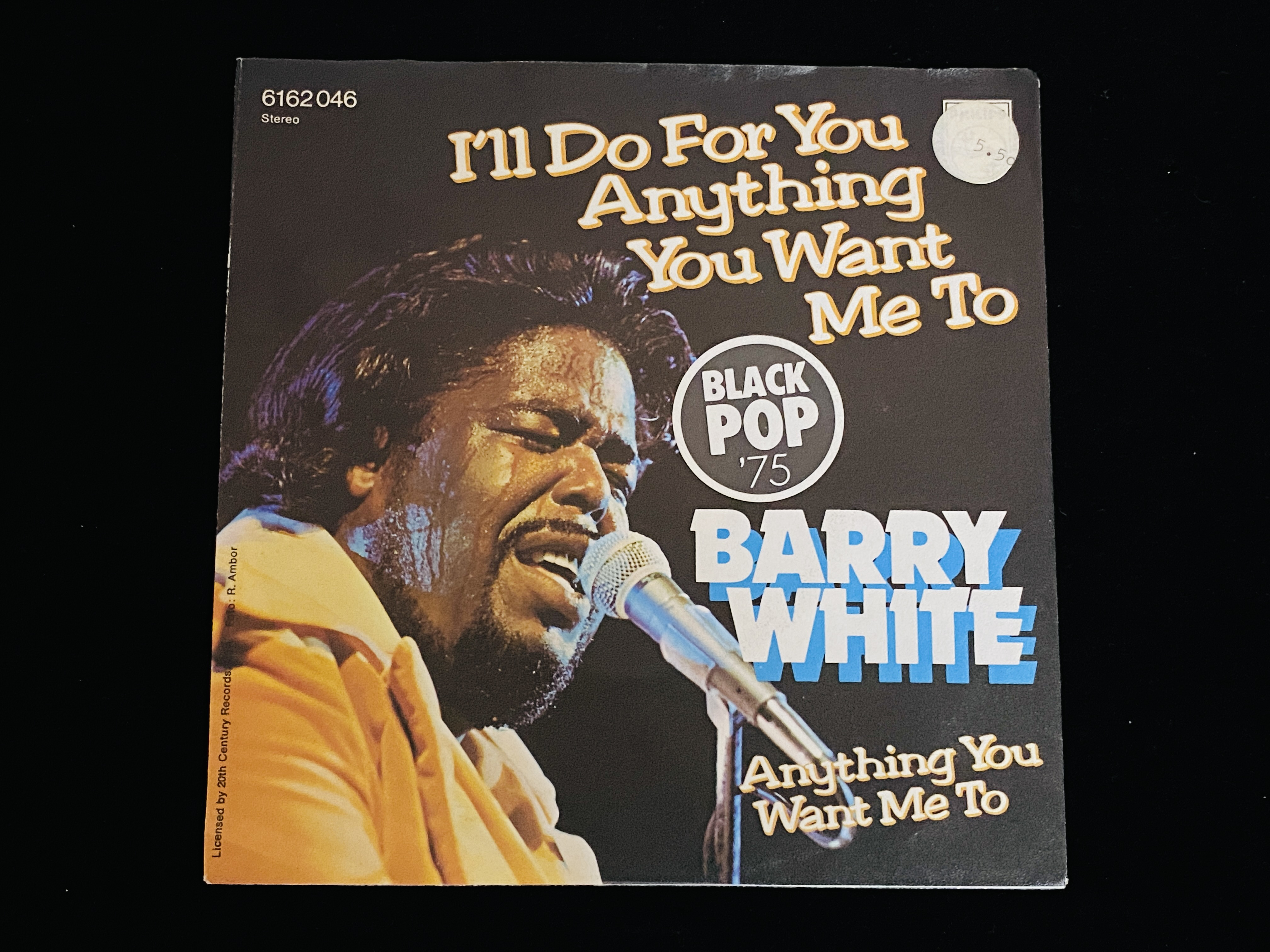 Barry White - I'll do for you anything you want me to (7'' Single, DE, 1975)