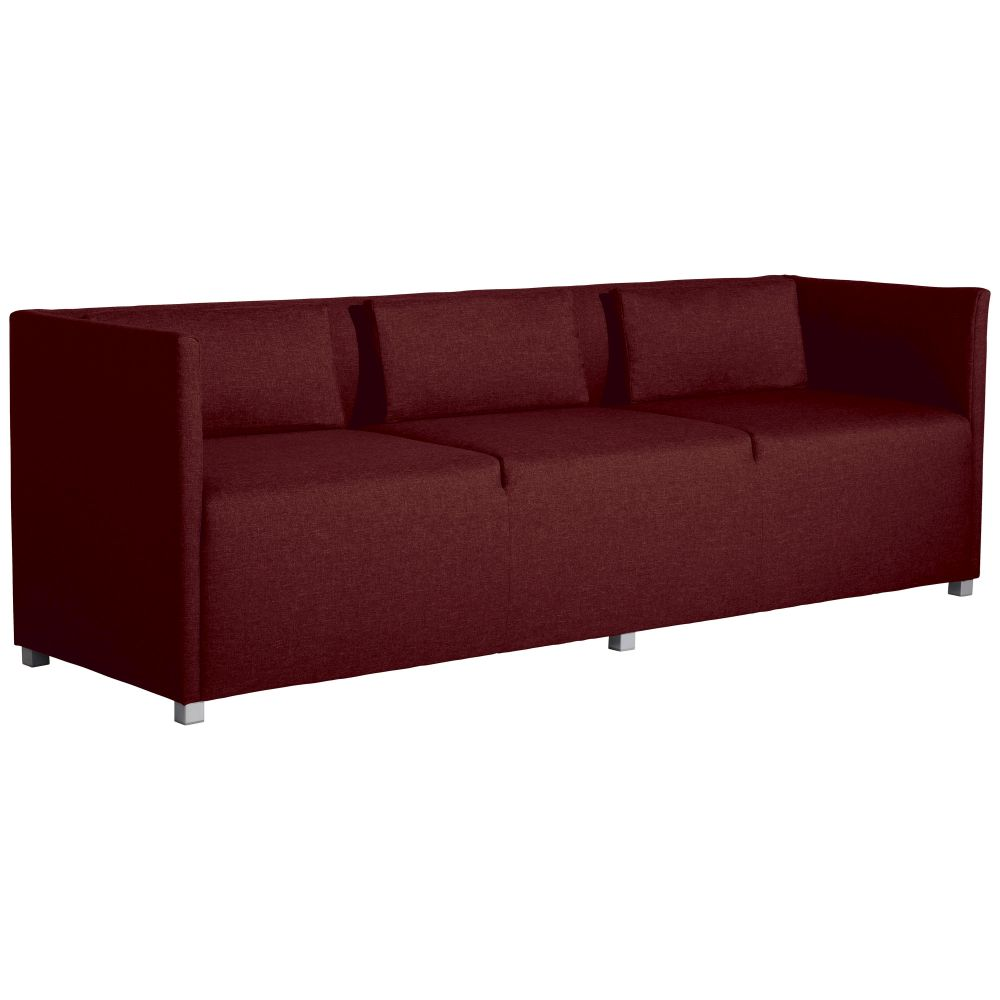 Max Winzer | Equal | Sofa 3-Sitzer | rot | Flachgewebe