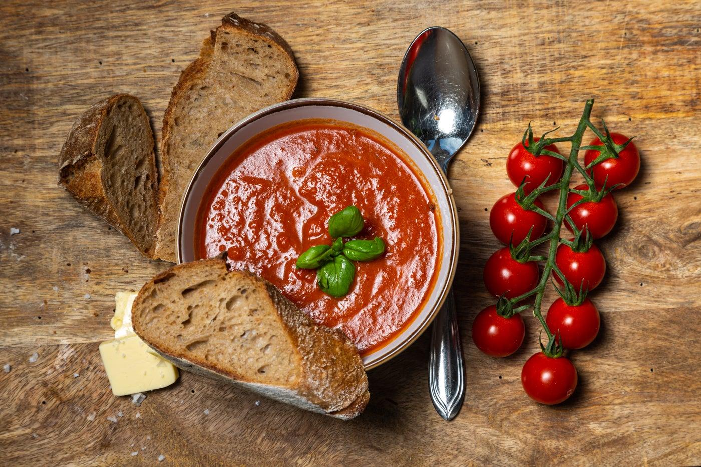 Tomatensuppe im Weckglas