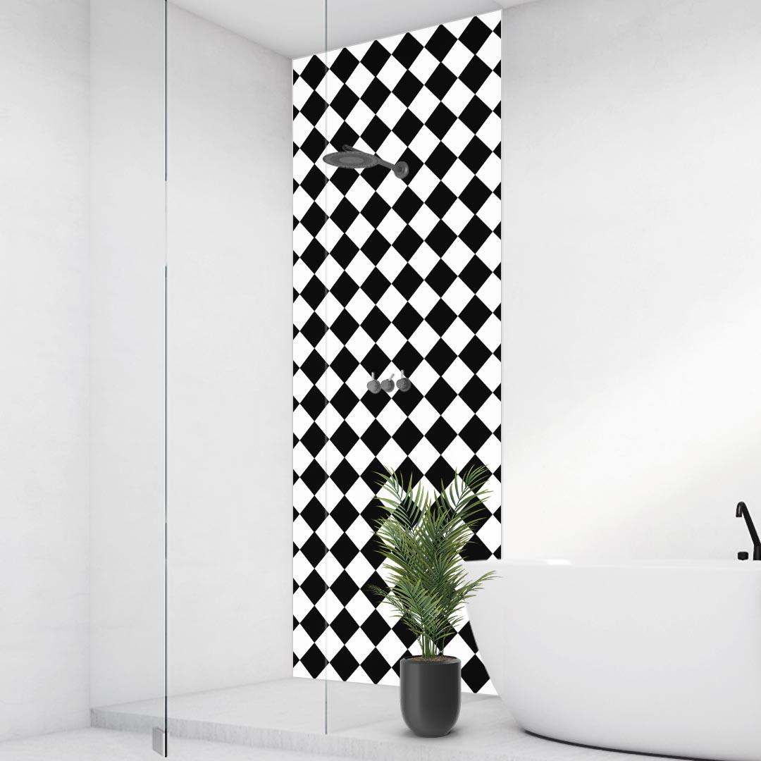 Duschrückwand Checkered Diagonal