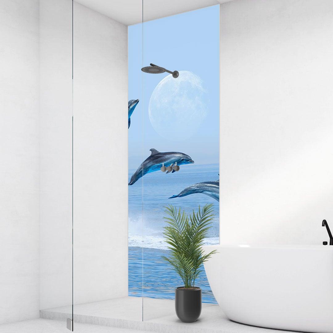 Duschrückwand Delfine