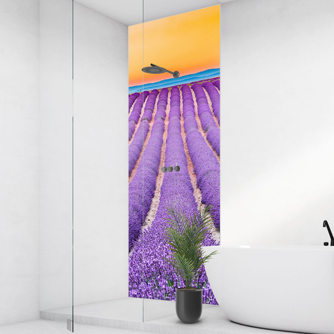 Duschrückwand Lavendel Frankreich