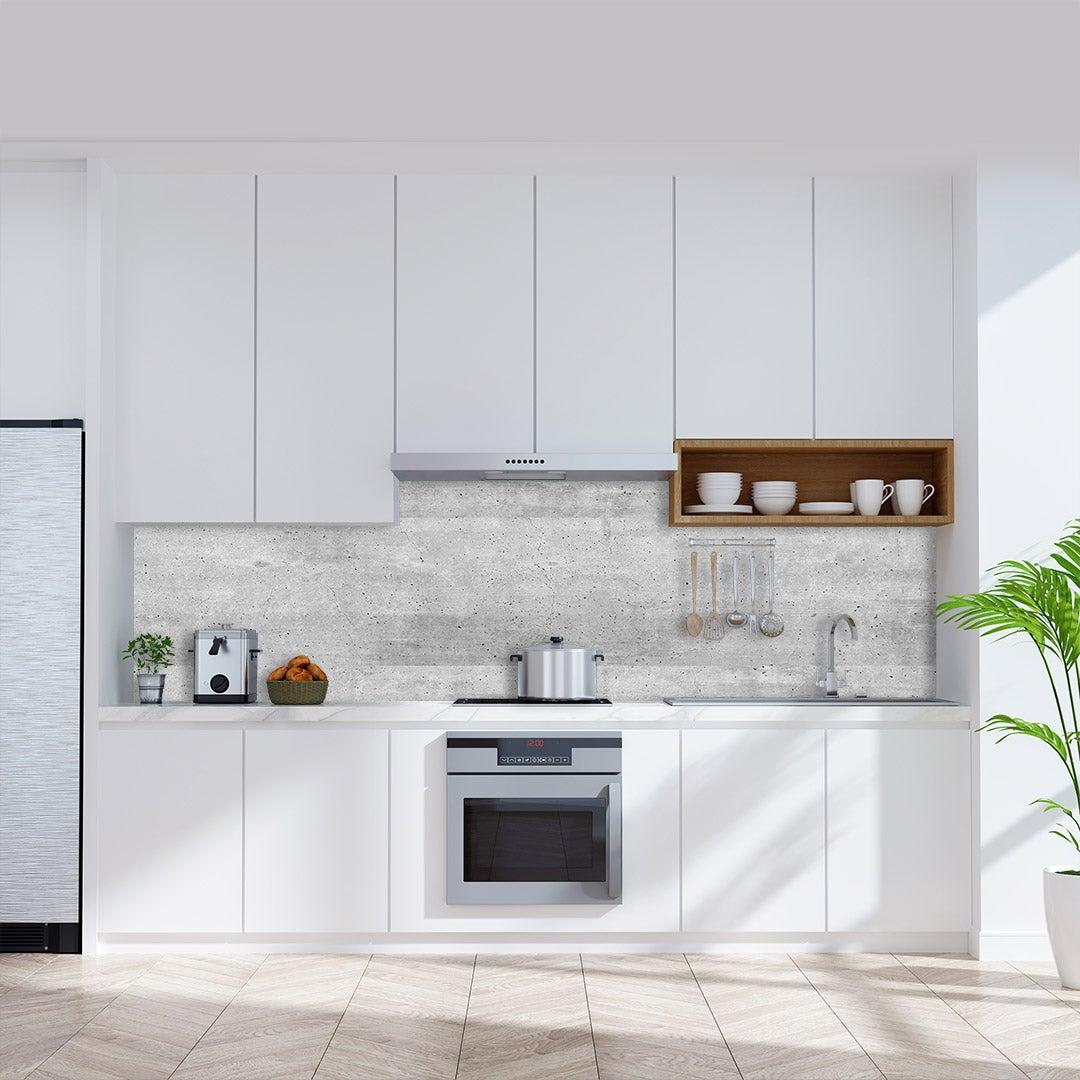 Küchenrückwand Beton Loft, fugenlose Wandpaneele aus Alu-Verbund 3mm