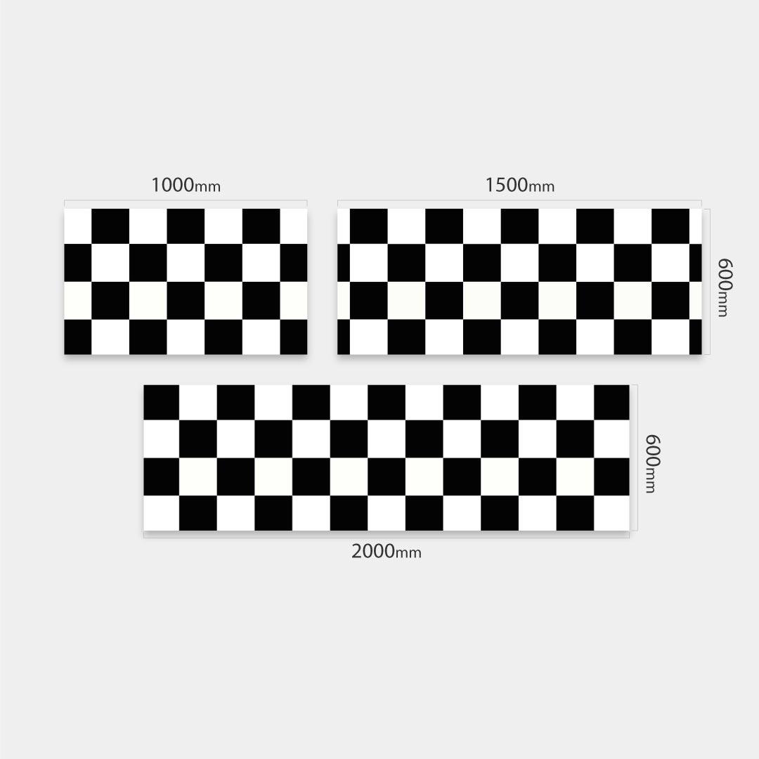Küchenrückwand Checkered, fugenlose Wandpaneele aus Alu-Verbund 3mm