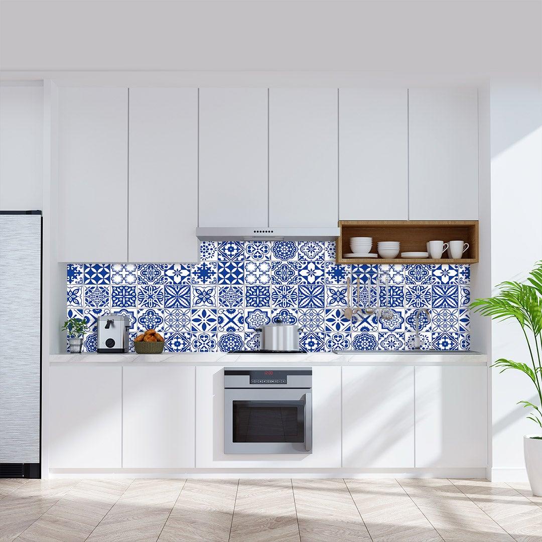 Küchenrückwand Fliesen Antioch blau