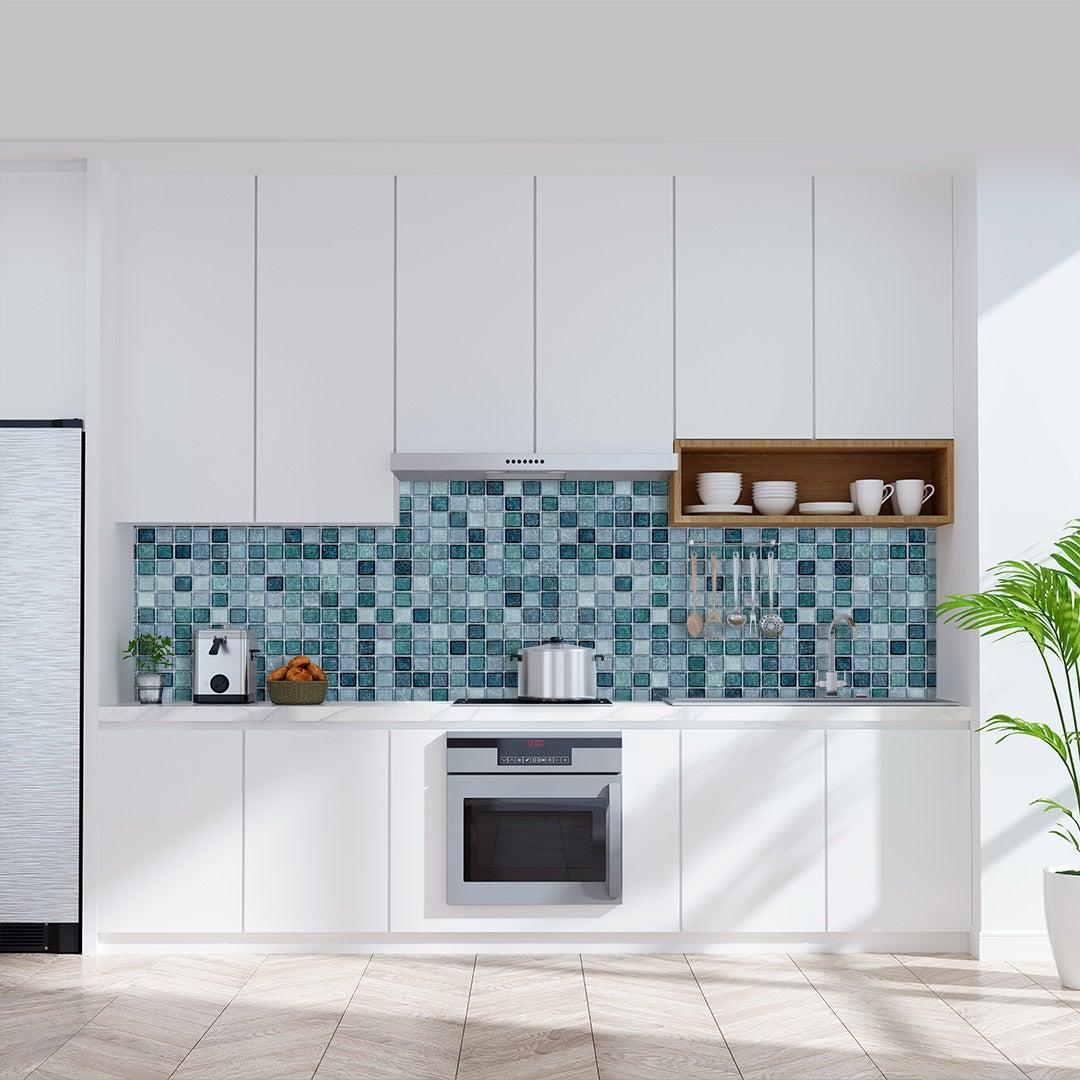 Küchenrückwand Mosaik Aqua