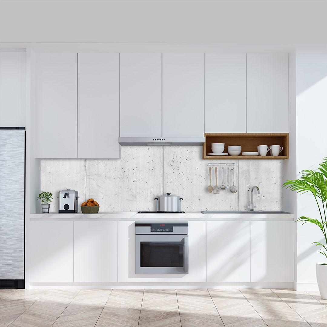 Küchenrückwand Beton Rustic, fugenlose Wandpaneele aus Alu-Verbund 3mm