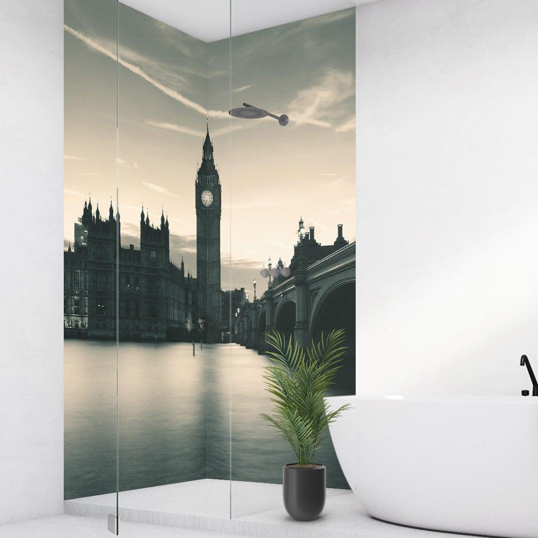 Duschrückwand London über Eck Set