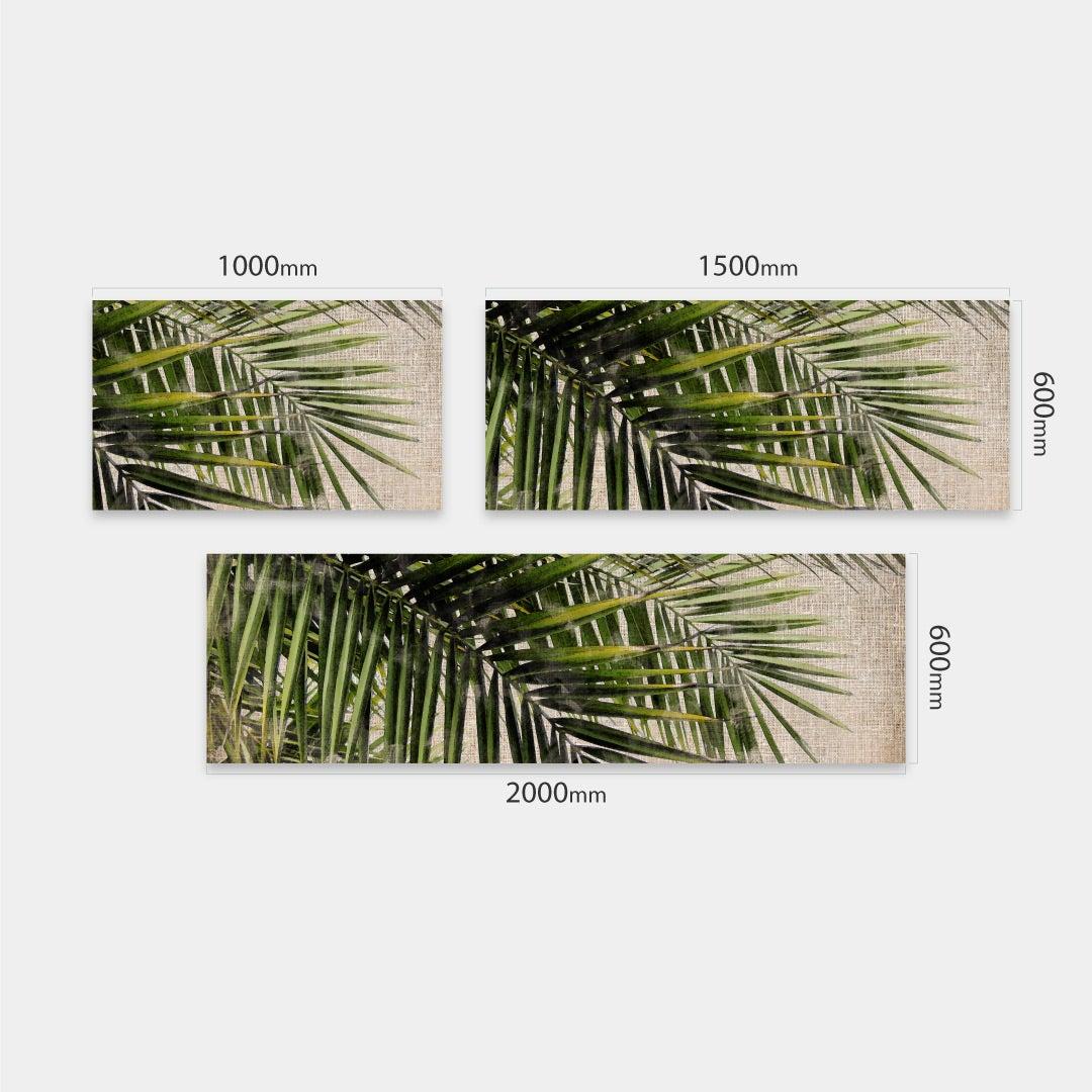 Küchenrückwand Vintage Palmen, fugenlose Wandpaneele aus Alu-Verbund 3mm