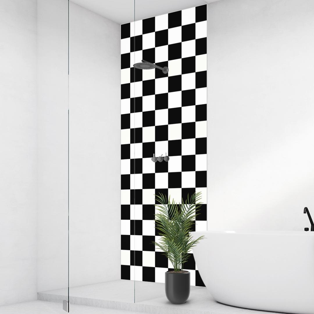 Duschrückwand Checkered