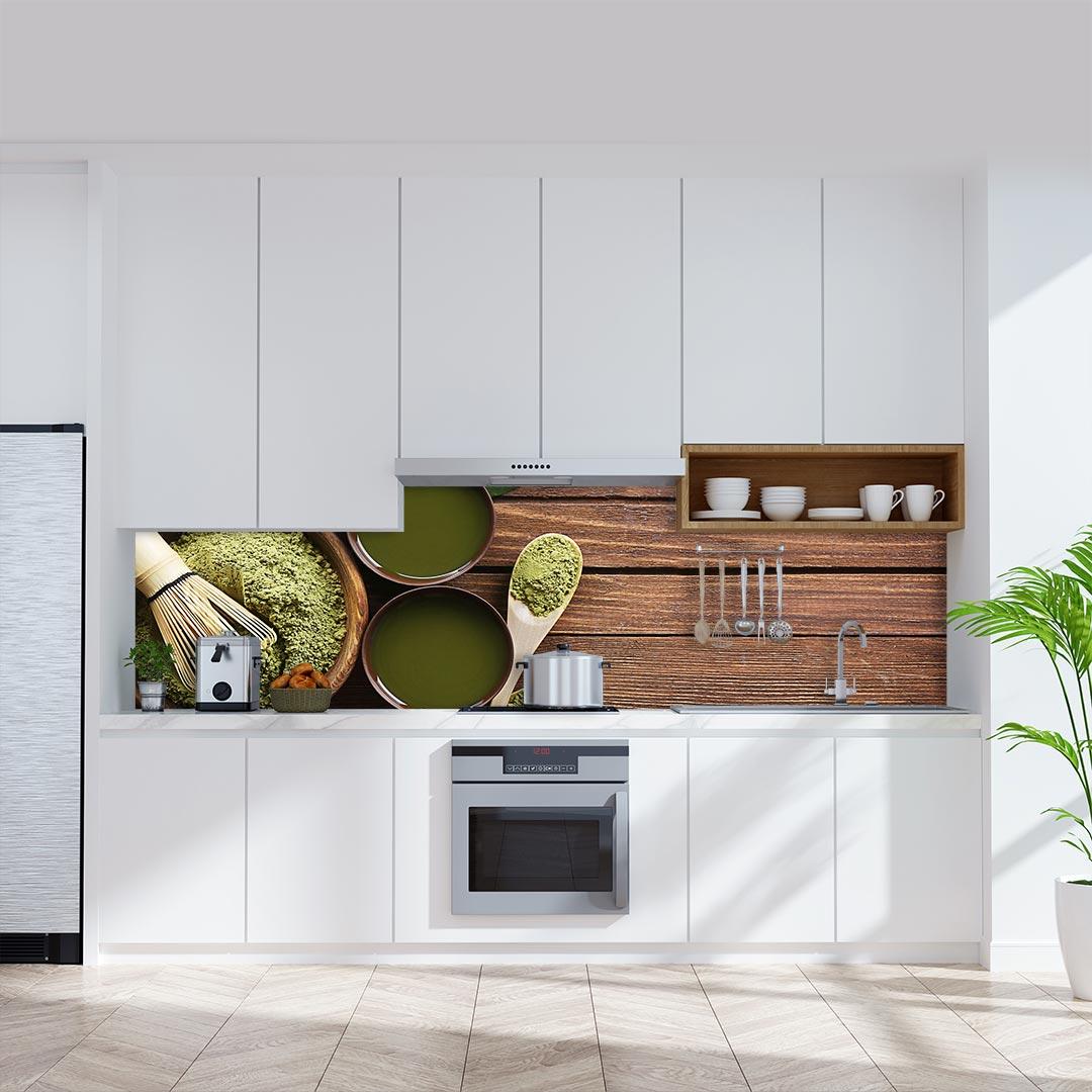 Küchenrückwand Grüner Tee