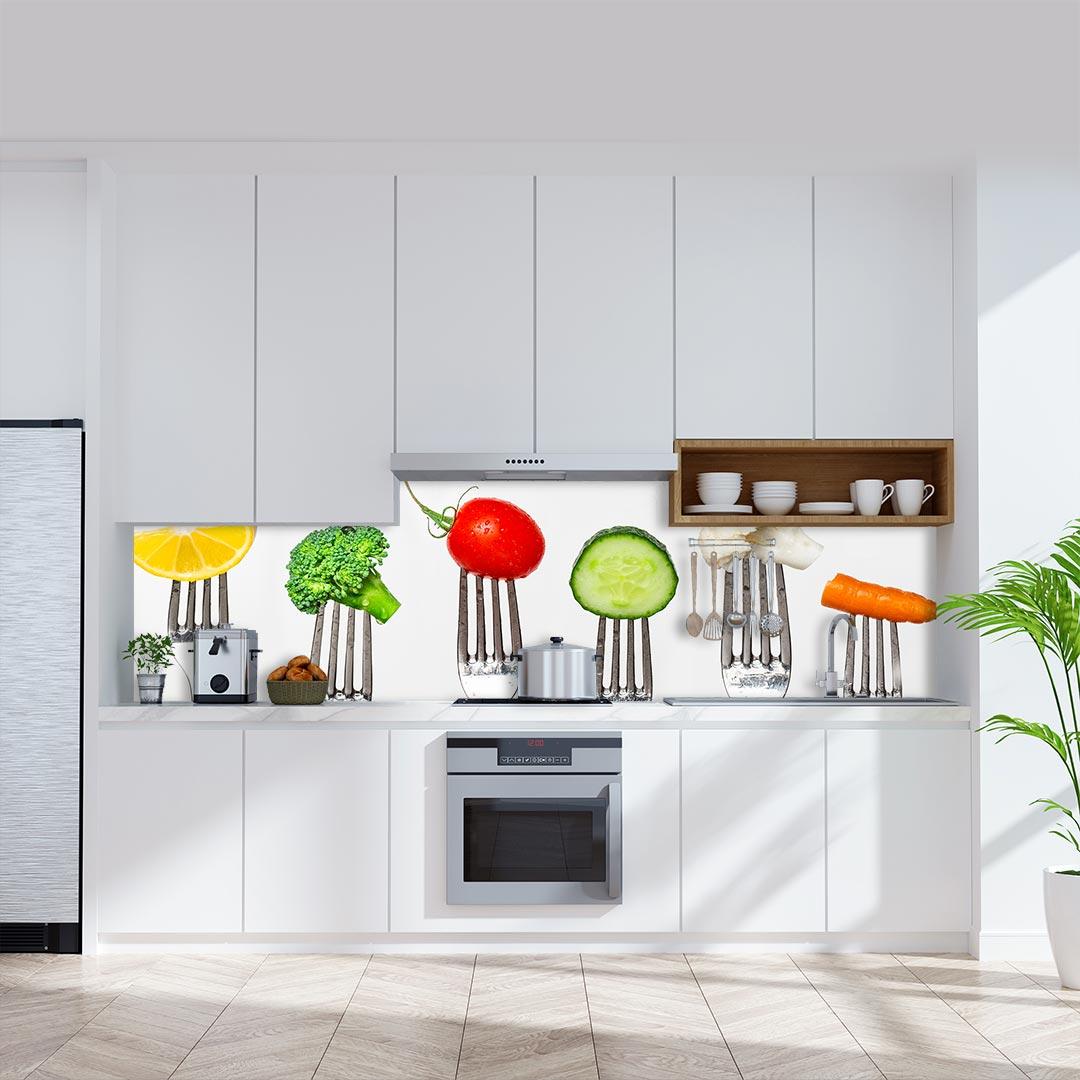 Küchenrückwand Gabeln
