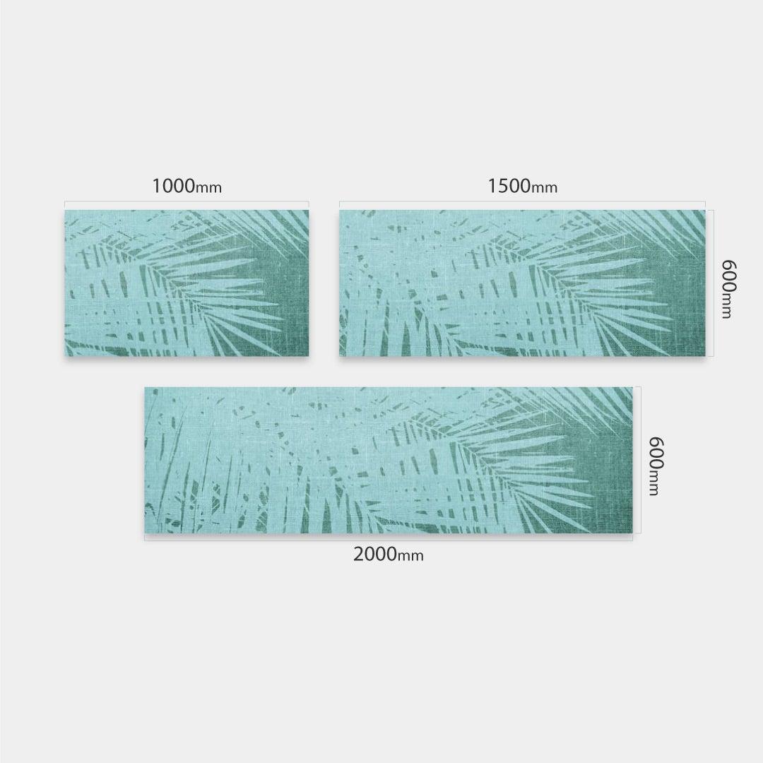 Küchenrückwand Vintage Palmen grünweiss, fugenlose Wandpaneele aus Alu-Verbund 3mm